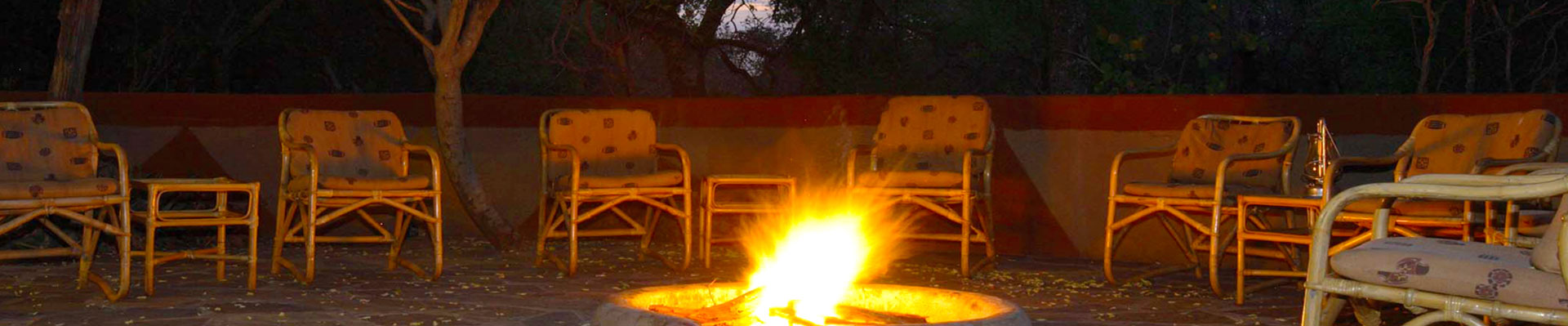 The camp fire awaits at Melorani Safaris