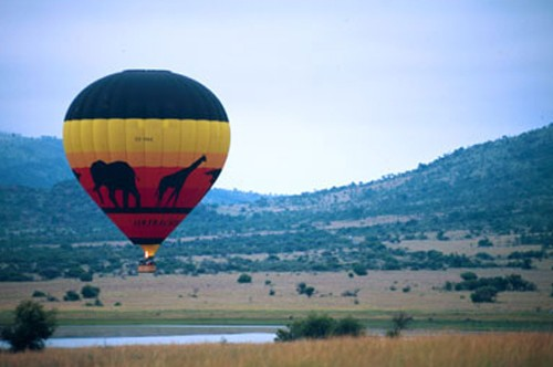 Hot Air Balloon rides over the game reserve at Sun City